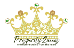 logo Prosperity Queens; a Crown with cryptocoins
